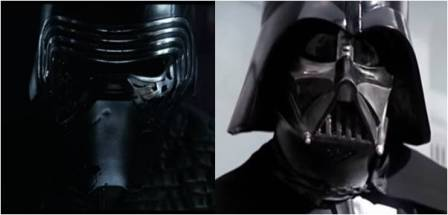 Star Wars: Kylo Ren and Darth Vader
